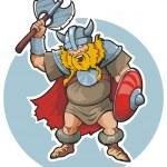 Viking - scandinavian warrior — Stock Vector
