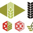 Agriculture icons — Stockvectorbeeld