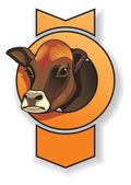 Cow head — Stock Vector