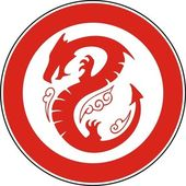 Chinese dragon in a circle — Vettoriale Stock
