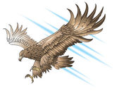Attacking eagle — Stock Vector