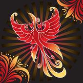 Amazing firebird — Stock Vector