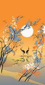Four seasons: autumn — Stock Vector