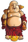 Laughing Buddha — Stock Vector