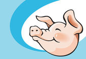 Smiling pig — Stock Vector