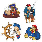 Vector Pirates — Stock Vector