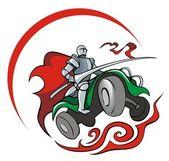 Quadrocycler ナイト — ストックベクタ