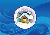Globo di neve con sfondo — Vettoriale Stock