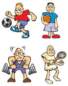 Cartoon Sportsmen — Stock Vector