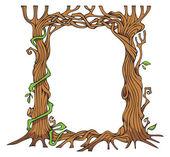 Tree-shaped photo-frame — Stock Vector