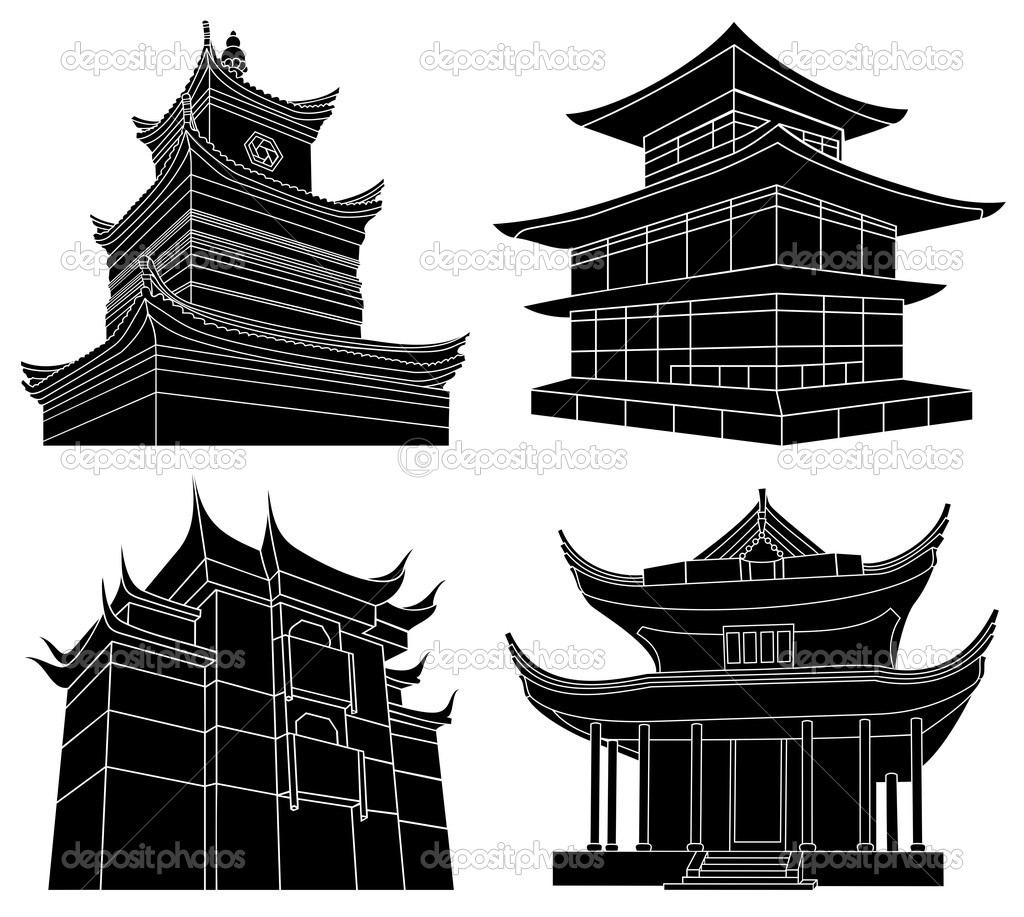 Pack of four Chinese p...