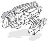 Spaceship concept — Stock Vector