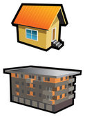 Two houses — Stock Vector