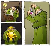 Enchanting wizards — Stock Vector