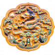 Bas-relief with Chinese dragon — Photo