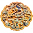 Bas-relief with Chinese dragon — Stock Photo