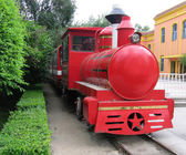 Old red train — Stock Photo