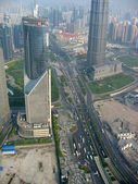 City: birds-eye view — 图库照片