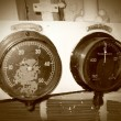 Old manometers - Stock Photo