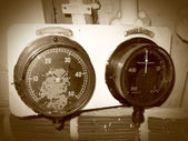 Old manometers — Stock Photo