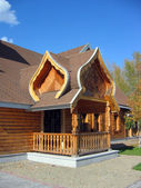 Russian wooden architecture — Stock Photo
