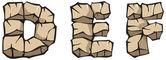 Stone alphabet: DEF — Stock Vector