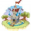 Fantasy castle - Stok Vektr