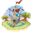 Royalty-Free Stock Vector Image: Fantasy castle