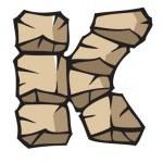 Stone alphabet: JKL — Stock Vector #2566473