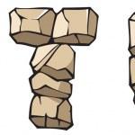 Stone alphabet: STU — Stock Vector