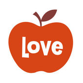 Love apple — Stock Vector