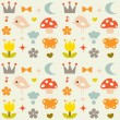 Vector cute background - Stock Vector