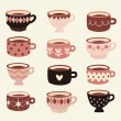 Royalty-Free Stock Vector Image: Vector cup set