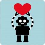 Robot card design — Stock Vector