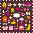Cute elements design - Stock Vector