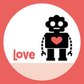 Robot card design — Vector de stock