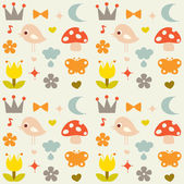 Vector cute background — Vector de stock