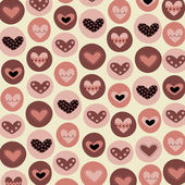 Collection hearts background vector — Vecteur