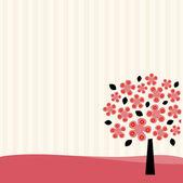 Baum tapete design — Stockvektor