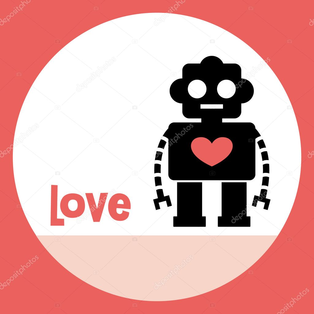 Robot card design — Stock Vector #2129129