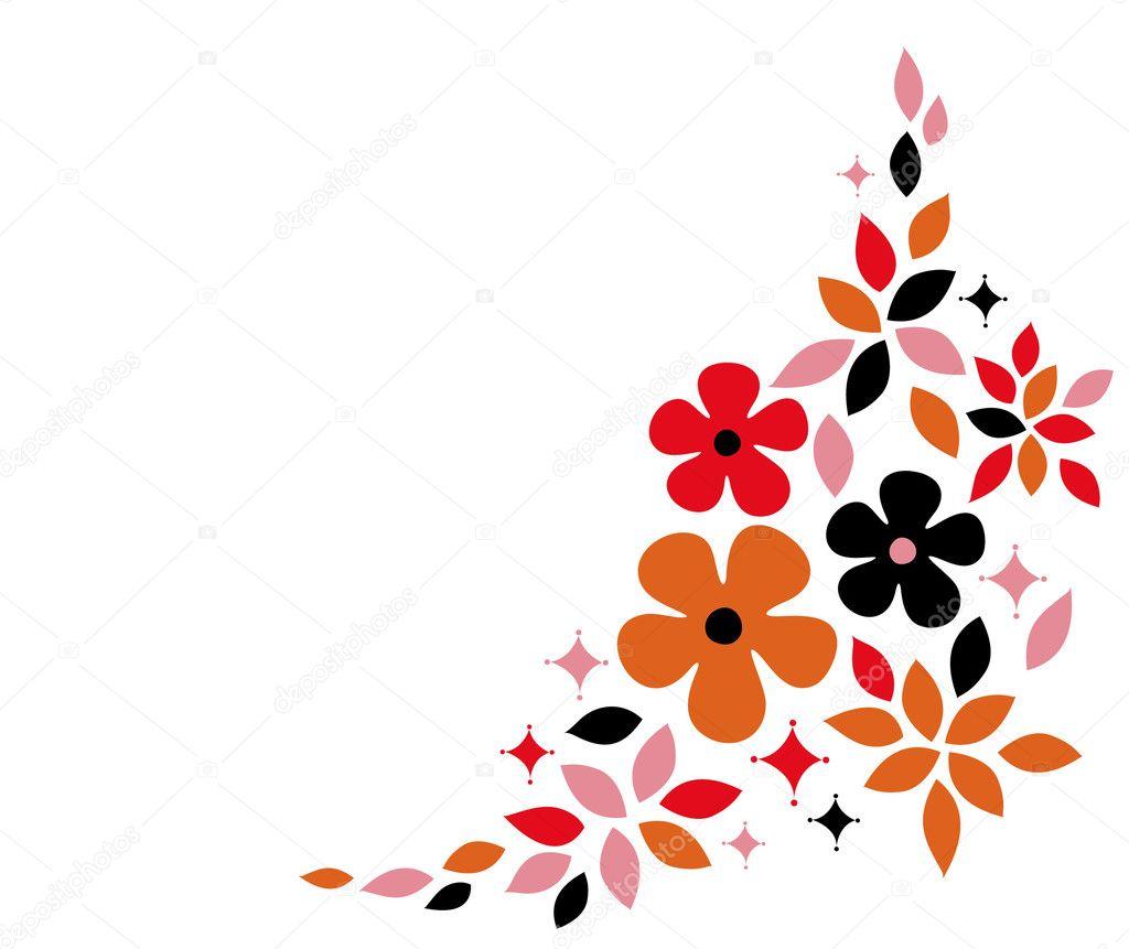 Flower background design stock illustration