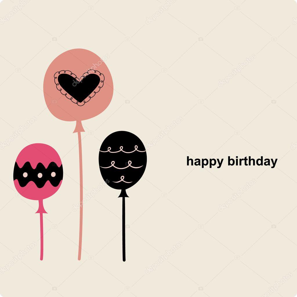 balloon birthday card design  stock vector © vectorrgb, Birthday card