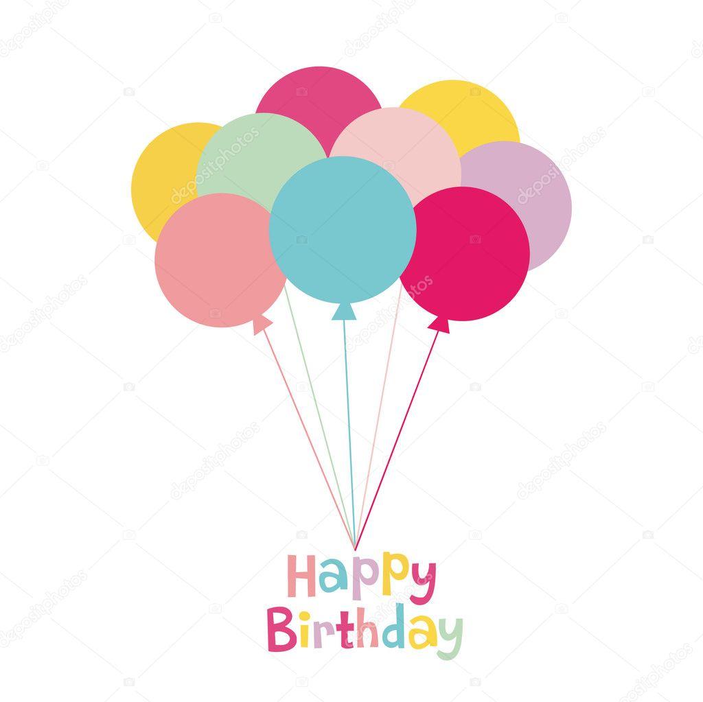 Balloon birthday card design — Stock Vector © vector_rgb #2129821