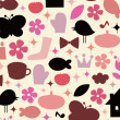 Royalty-Free Stock Vector Image: Cute elements background design