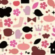 Cute elements background design - Stock Vector