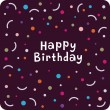 Vector birthday card design - Stock Vector