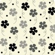 Vector flower wallpaper design - Stock Vector