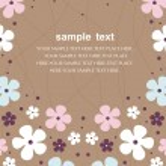 Vector flower wallpaper design — Stock Vector