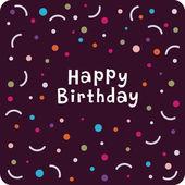 Vector birthday card design — Stock Vector
