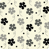 Vector flower wallpaper design — Stockvector